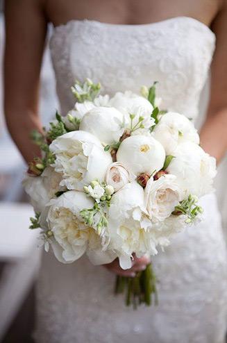 Букет невесты фото пионы