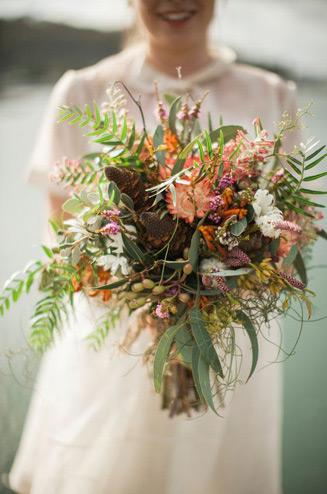 Букет невесты в стиле рустик своими руками