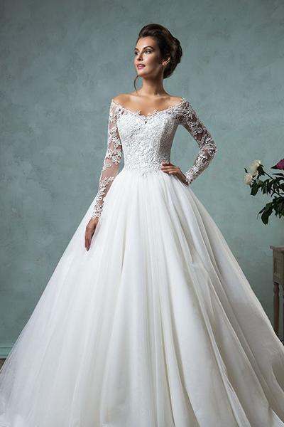 Свадебное платье в стиле а-силуэт