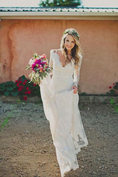Свадебные платья стиль бохо