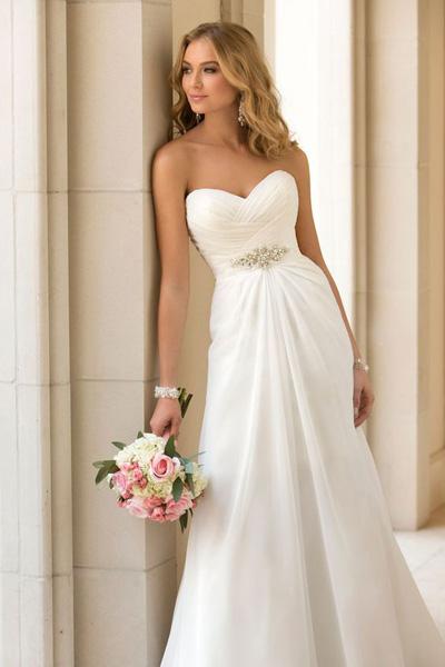 a28a7b985cd844b Прямые свадебные платья