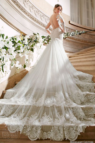 Свадебное платье со шлейфом с ценами