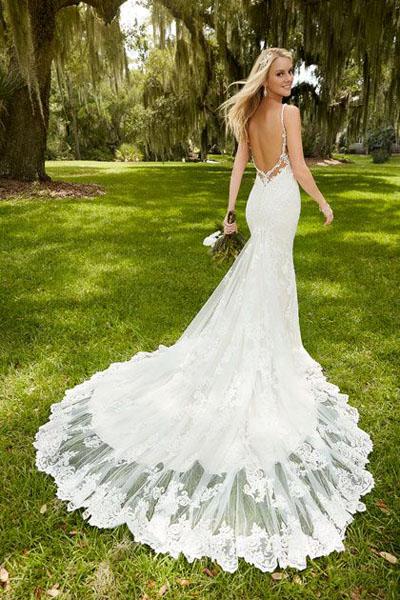 Платья свадебные со шлейфом фото