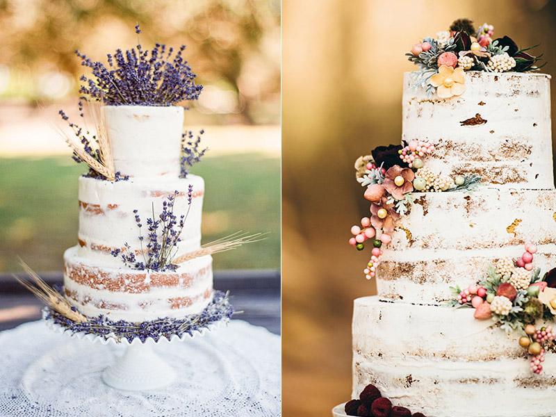 Торт на свадьбу в стиле рустик