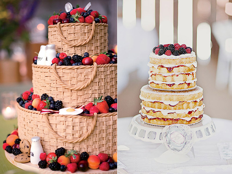 Торты фруктовые фото свадебные