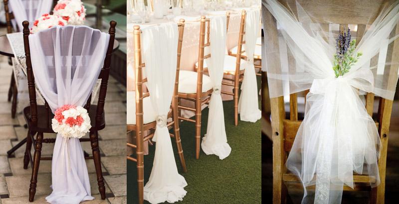 Украшения на стульев на свадьбу