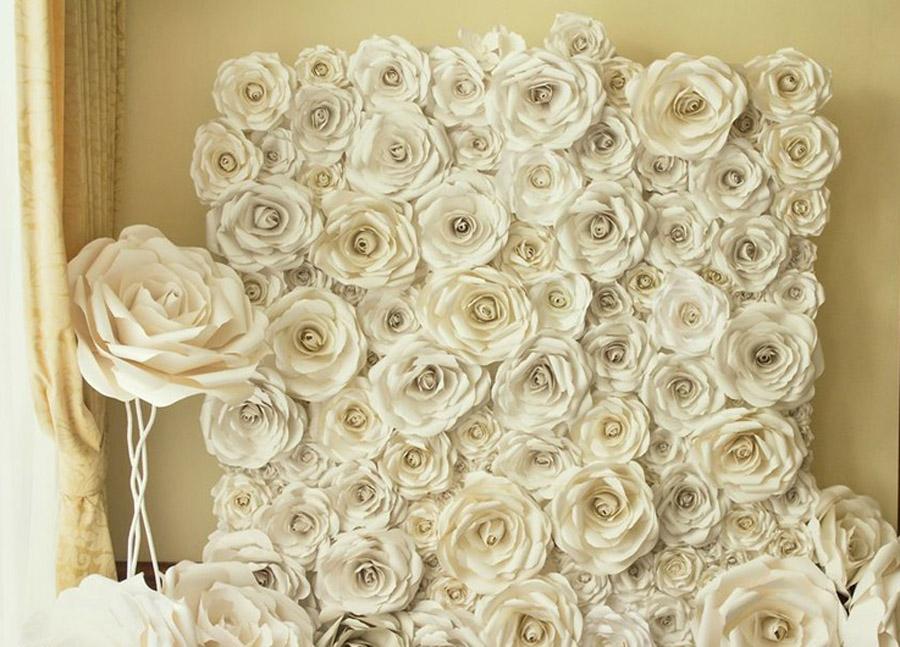 Фон из цветов на свадьбу своими руками 13