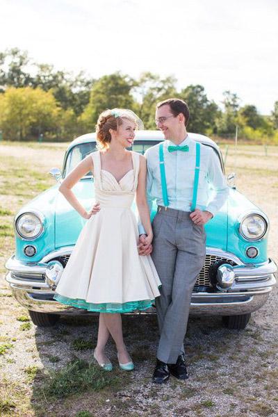 6676ead57b09b11 Образы невесты и жениха. Свадьба в стиле Ретро