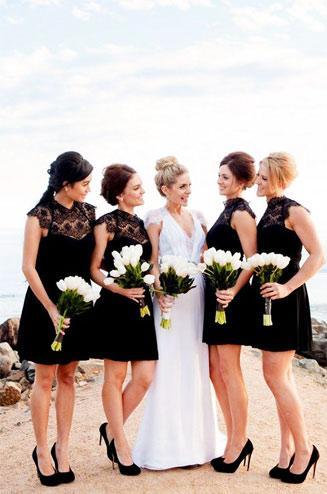 свадьба черно белая